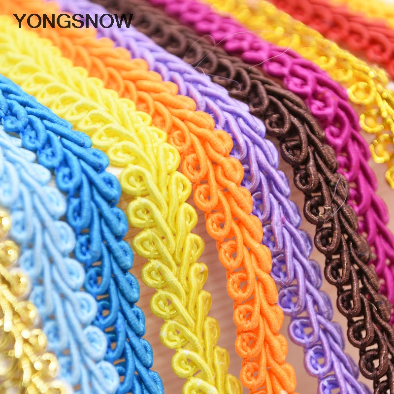 10m/lot Lace Trim Ribbon Gold Silver Centipede Braided Lace DIY Craft Sewing Accessories Wedding Decoration Fabric Curve Lace(China)