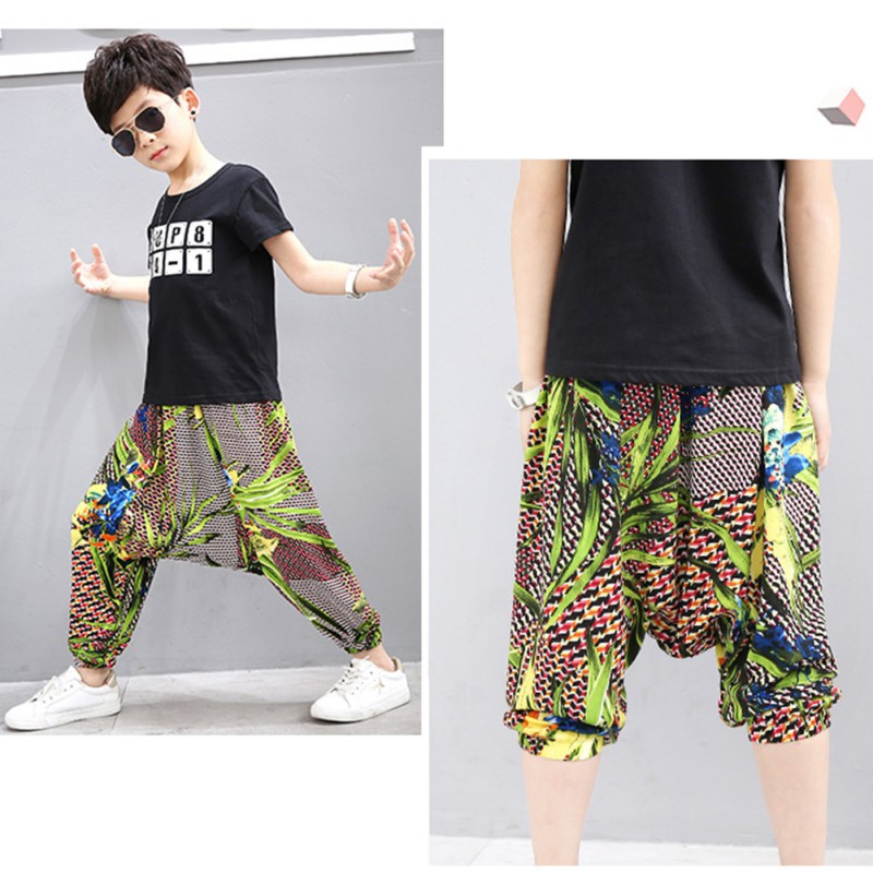 7b52c7a41c Playtoday Baby Clothes Treasure Summer Printed Boys Girls Harem Pants Beach  Vacation Loose Baby Boy Clothes Harem Pants-in Pants from Mother & Kids on  ...