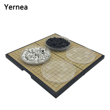 Yernea New Chess Children Teaching Puzzle Game Of Go For Go Board Of Weiqi Folding Magnetic Chess Board Backgammon Gift Go Game цена и фото