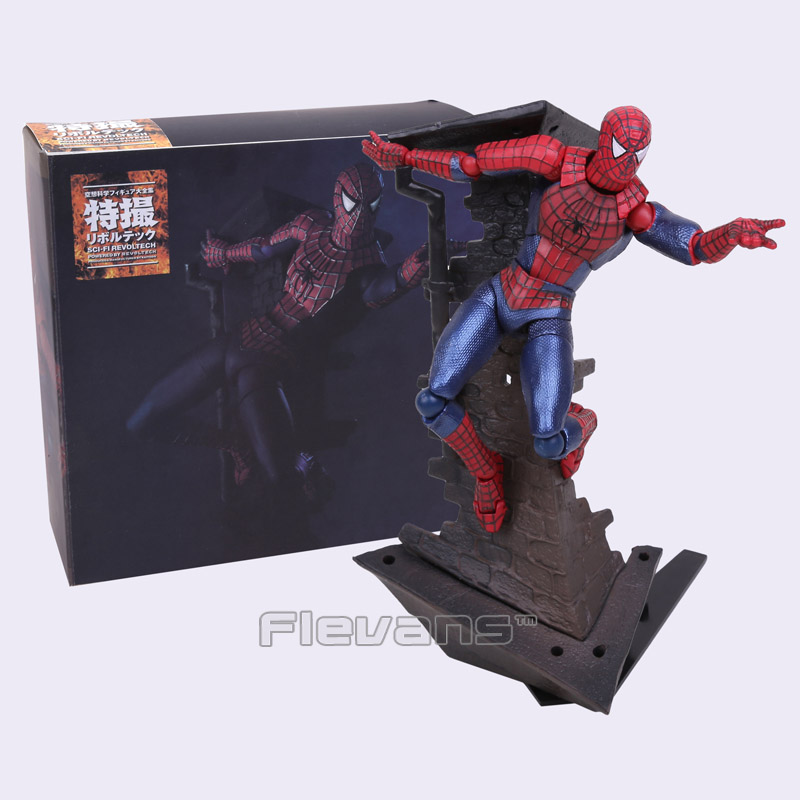 SCI-FI Revoltech Series NO.039 Spider-man Spiderman PVC Action Figure Collectible Model Toy 14cm spiderman creator x creator the amazing spider man pvc figure collectible model toy