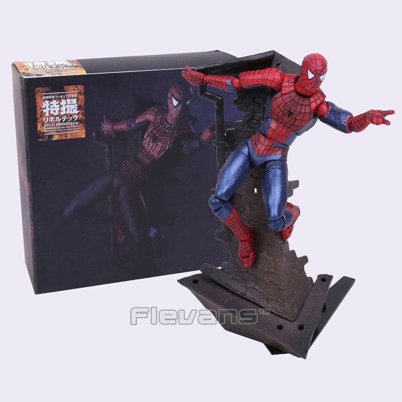 SCI-FI Revoltech Series NO.039 Spider-man Spiderman PVC Action Figure Collectible Model Toy 14cm superior spider man no escape