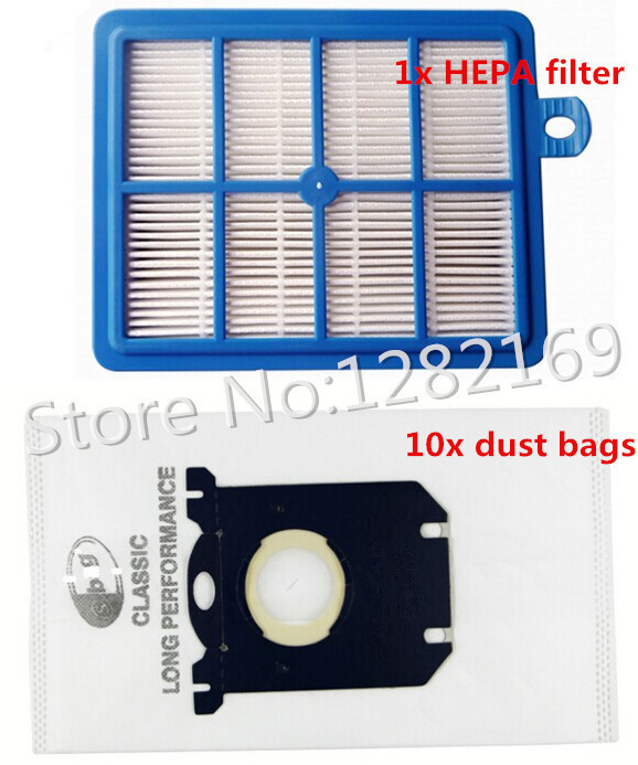 10x Vacuum Cleaner Dust Bags s-bag and 1x H12 Hepa filter Replacement for Philips Electrolux Cleaner Free Shipping to Ru! цены