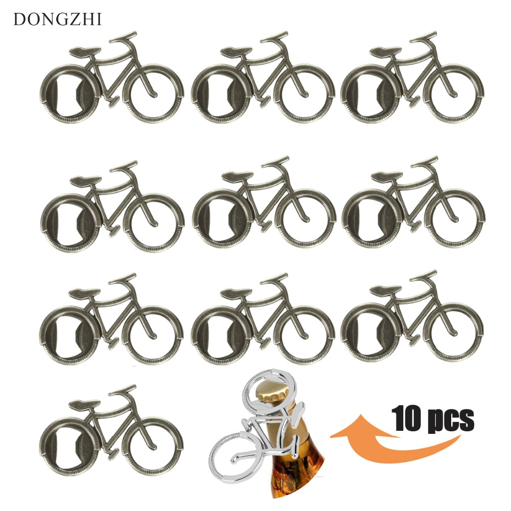 Dropshipping 10PCS /Set Let's Go On An Adventure Bicycle Bottle Opener Antique Beer Openers For Wedding & Party Favors Bar Tools
