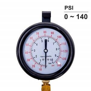 Image 3 - Oto Motor Yakıt Sistemi Yağ Basıncı Test Ölçer Araç Teşhis Analiz Tamir Aracı Kiti 0 140 PSI