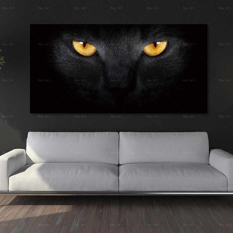 Poster Canvas art Pictures Wall Pictures Animal cat Art Painting No Framex canvas wall art elephant cuadros decoracion salon art