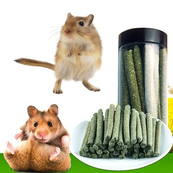 Natural Rabbit Hamster Grass Chew Sticks Pet Food Toy Natural Snack For Rabbit Hamsters Guinea Pig Chinchillas Squirrel 1
