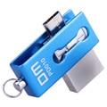Бесплатная доставка DM PD010 USB Flash Drive 8 Г OTG Смартфон флэш-Накопитель Micro USB Портативный Хранения Памяти Металла водонепроницаемая USB Stick