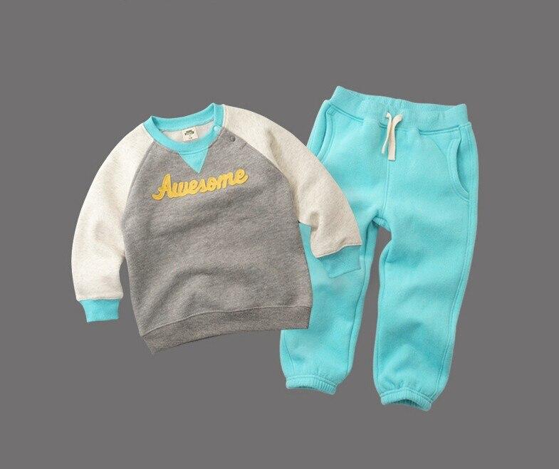 2020 primavera inverno crianças engrossar roupas terno