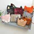 2017 niños lindos bolsos de mini niños niñas niños bolsas de dibujos animados fox/cat/animal del conejo de tela/cuero de la pu monederos bolsos para niñas