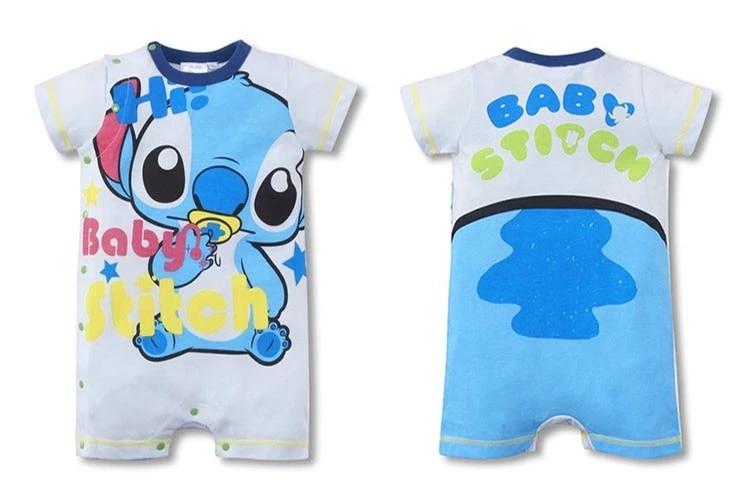 Sommer 100% bomuld Kortærmet tegneserier Baby Rompers Nyfødt spædbarnstøj Småbarn Dreng Jumpsuits Bebe Roupas 1stk HB042