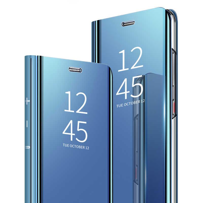 الذكية جلد الوجه حقيبة لهاتف سامسونج غالاكسي S7 S7 حافة الفاخرة موقف واضح مرآة الرؤية الهاتف حقيبة لهاتف سامسونج S7 حافة تصفيح