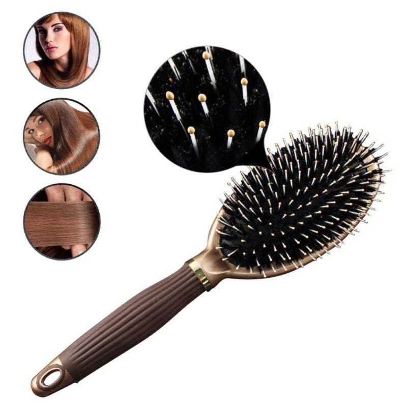 Для женщин волос Кисточки гребень ежедневного использования щетины Мане Профессиональные волос Кисточки антистатические Инструменты для ...