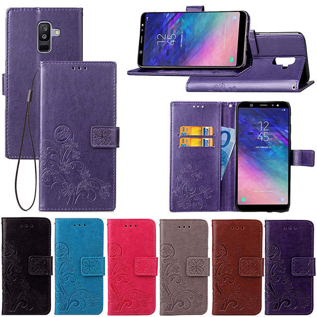 new styles d6daa 0ec32 US $3.74 25% OFF|For Flip Case Samsung Galaxy A6 Plus 2018 Leather Cases A6  Plus Soft Silicone Cover Phone Bag for Samsung A6 Plus a605-in Flip Cases  ...