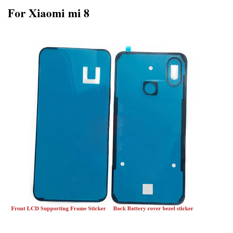 For Xiaomi Mi 8 Mi8 Back Battery Cover Sticker LCD Screen Front Frame Bezel 3M Glue For Xiaomi Mi 8 Double Sided Adhesive Tape