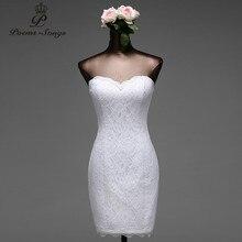 Poems Songs robe de mariée courte en dentelle à fleurs, robe de mariée sirène, livraison gratuite, 2020