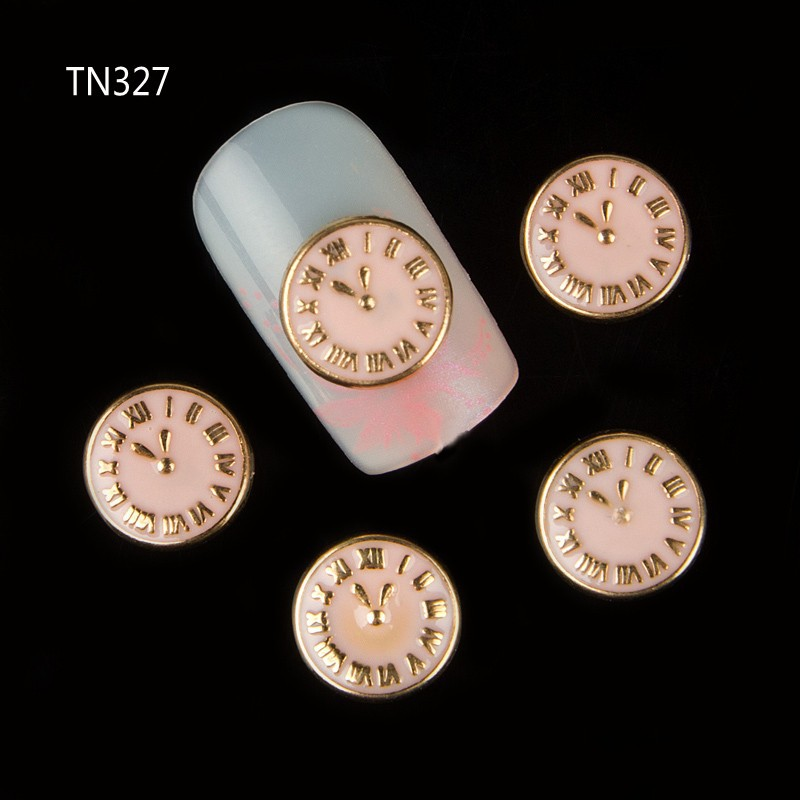 10pcs Alloy Decoration For Nail Round Dial Designs Manicure 3d Nail