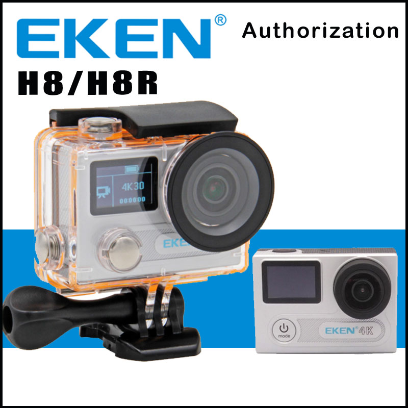 Action Camera EKEN H8 /H8R Ultra HD 4K 30FPS WiFi 2.0 170D Dual Lens Helmet Bike Mini Cam Underwater Waterproof Sport Camera original eken action camera eken h9r h9 ultra hd 4k wifi remote control sports video camcorder dvr dv go waterproof pro camera