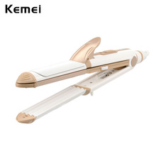 Electric Fast Hair Straightener Curler Constant Temperature Corn Plate Flat Iron Electric Clip Profesional brosse lissante -48W