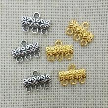 10 шт. компонент многослойная застежка пряжка ожерелье bails Разъем кисточкой цепи 3 нити Переключить филигранные ювелирные изделия joyas ремесло