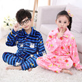 Winter Kids Pijamas Flannel Sleepwear Girls Boys Pyjamas Coral Fleece Kids Pajamas Sets 2-13T Kids Clothes Nightwear /Homewear