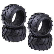 4Pcs/Lot RC Monster Truck Tire With Foam Inserts OD :82mm ID:52mm Width:46mm For