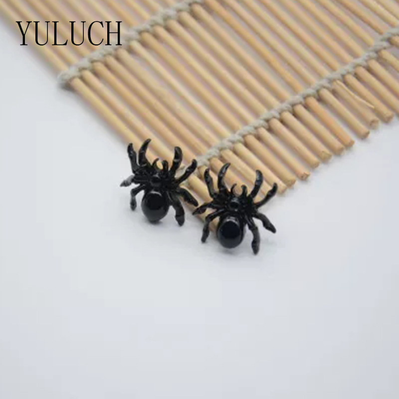 YULUCH Unique Design Minimalist Mini Black Insect Jewelry Spider <font><b>Earrings</b></font> For Women Shopping Wild Novelty image
