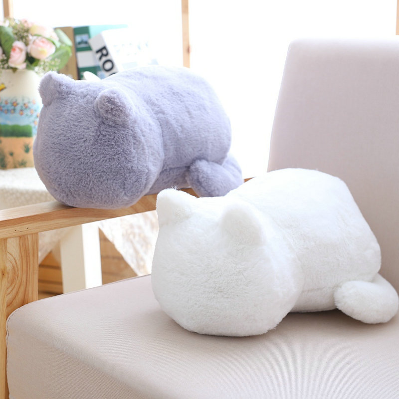 купить Kawaii Plush Cat Toys Staffed Cute Shadow Cat Dolls Kids Gift Doll Lovely Animal Toys 3 Colors Home Decoration Soft Pillows по цене 590.9 рублей