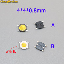 все цены на ChengHaoRan 20Pcs 4*4*0.8mm 4x4x 0.8MM 4X4X0.8mm Tactile Push Button Switch Tact 4 Pin Switch Micro Switch SMD онлайн