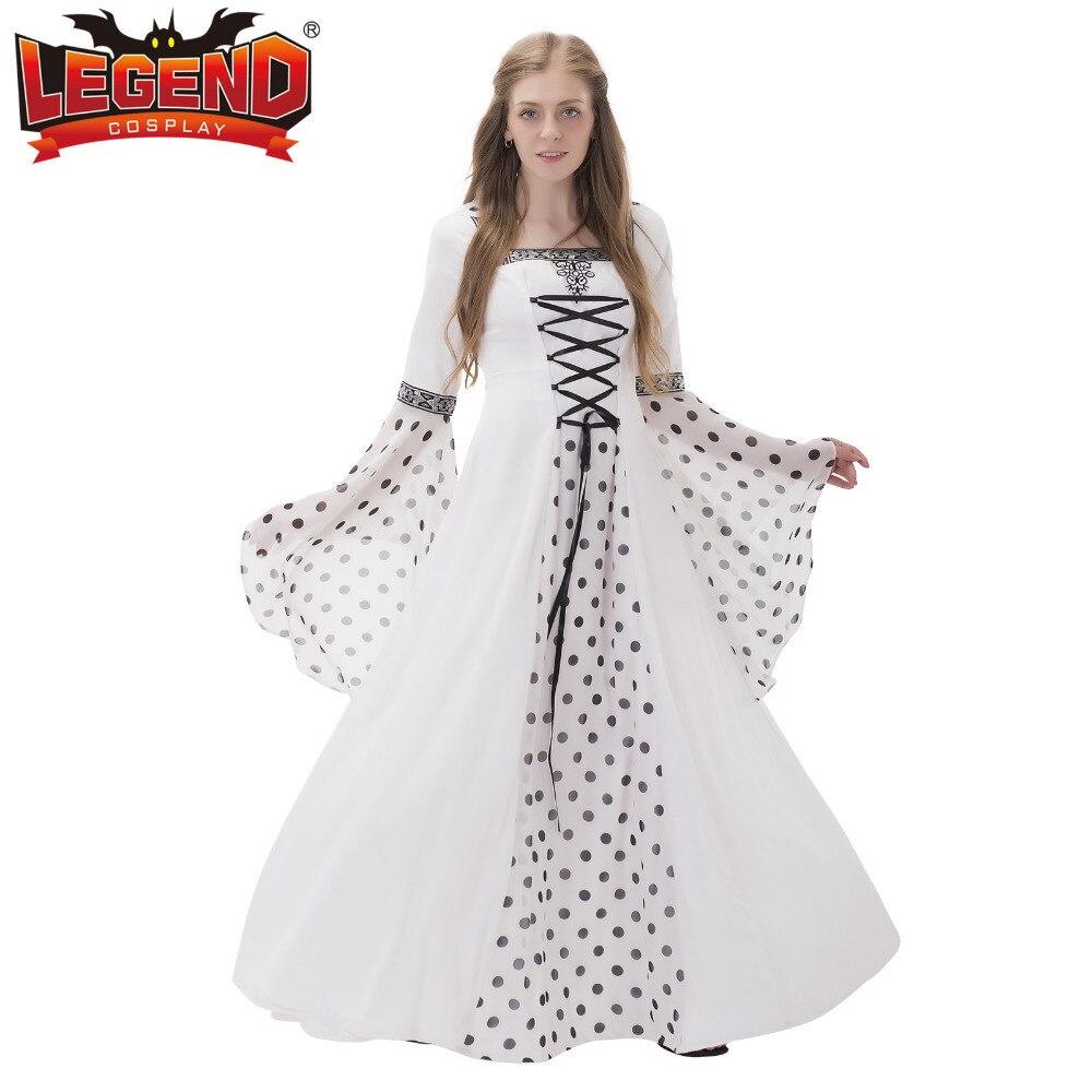 White Medieval Renaissance Wedding Dress Civil War Victorian Rococo Dress  Marie Antoinette Dress Ball Gown Halloween Costume