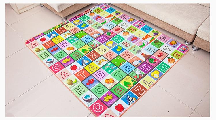 HTB1EHfse9SD3KVjSZFKq6z10VXaZ Infant Shining 200*180*1.5CM Baby Play Mat Thickening Eco-friendly EPE Children Playmat Cartoon Non-slip Carpet Living Room Mat