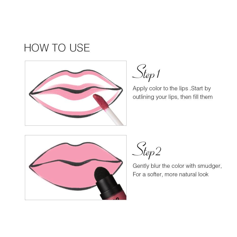 MENOW Perfect Lip gloss Cosmetics Long Lasting Matte Liquid Lipstick Moisturizer Lip gloss Whole sale make up drop ship L506 in Lipstick from Beauty Health