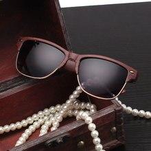 Vintage Wood Sunglasses for Women Mirror UV400 Eyewear Brand Designer Goggle Ladies Street Sun Glasses Gafas De Mujer Lunettes