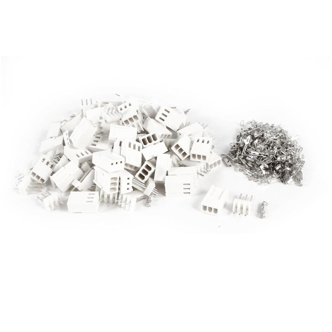 Jfbl 2x 50 Pieces Kf 3p 2 54mm Pcb Header 3 Pin