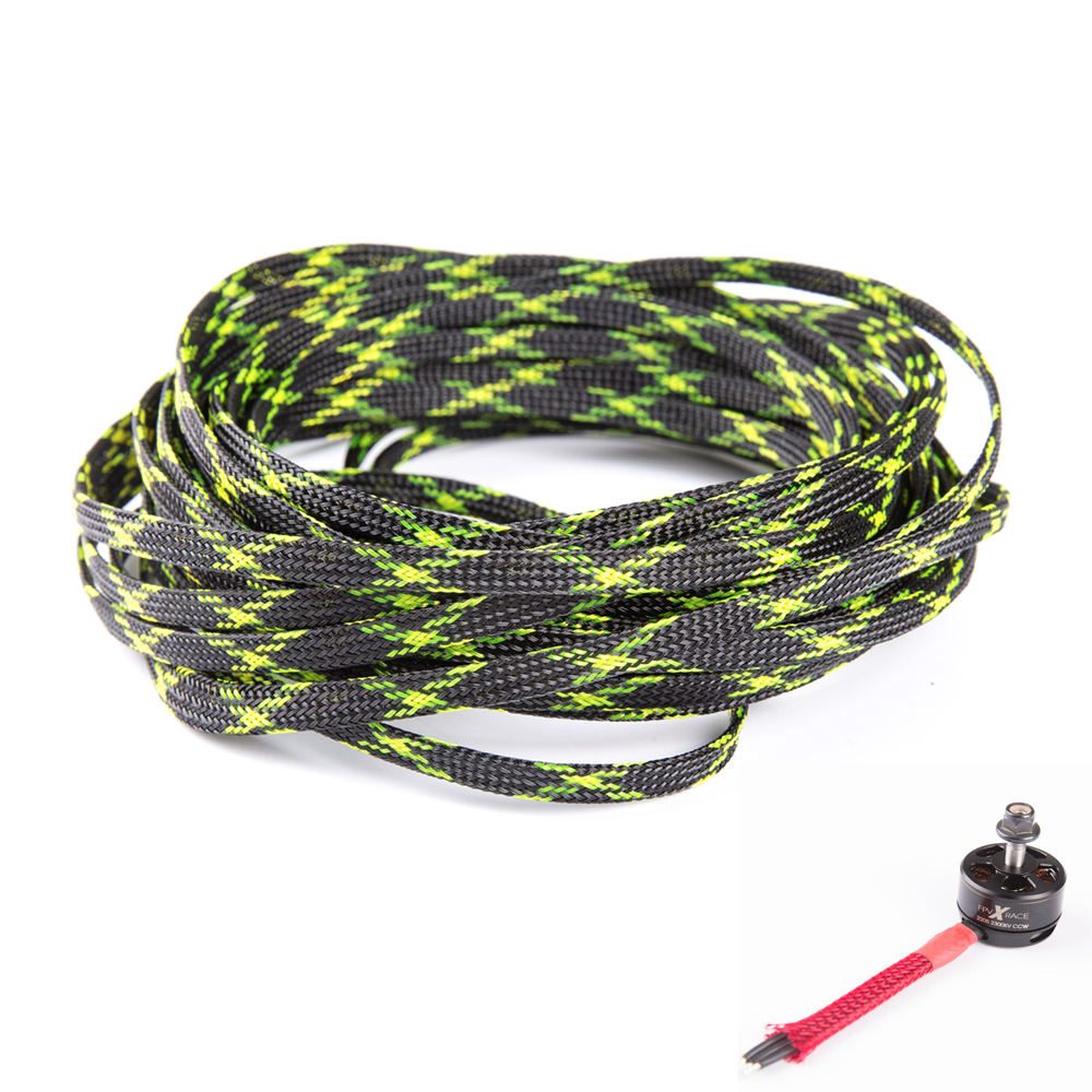 5 Meters Snakeskin Network 6MM Protective Wire Mesh Nylon Aseismic ESC Safety Net for FPV Racing Drones Accessories ethernet cable