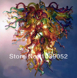 Multi kolorowe Murano szkło artystyczne oświetlenie współczesne nowoczesne żyrandol