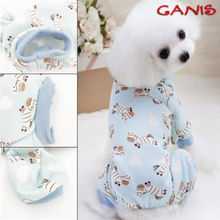 Cute Warm Pet Cat Pajamas Dog Jumpsuit Clothing Small Puppy Coat Apparel Rompers Size S-L