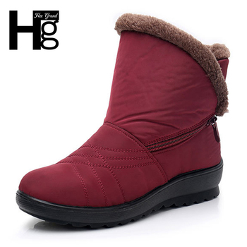 69726f9c HEE GRAND/женские зимние ботильоны с круглым носком, теплые женские ботинки  на платформе с Плюшевым Мехом, 3 цвета, размеры 35-41, XWX6868