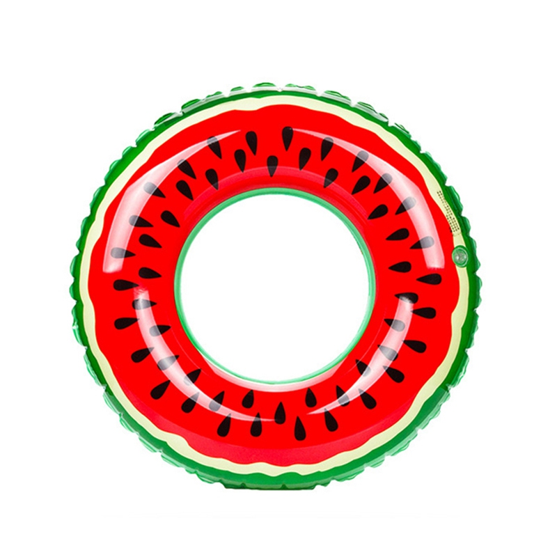 Adult Kids Thicken Pool Float Circle Inflatable Swimming Rings Portable Children Watermelon Swimming Rings for Swimming Pool circle
