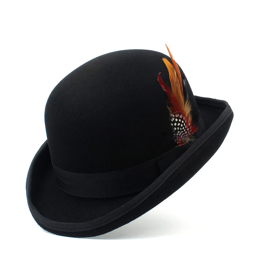 High Quality Royal Blue Hard Top 100/% Wool Bowler Hat-Satin Lined Sizes S to XL