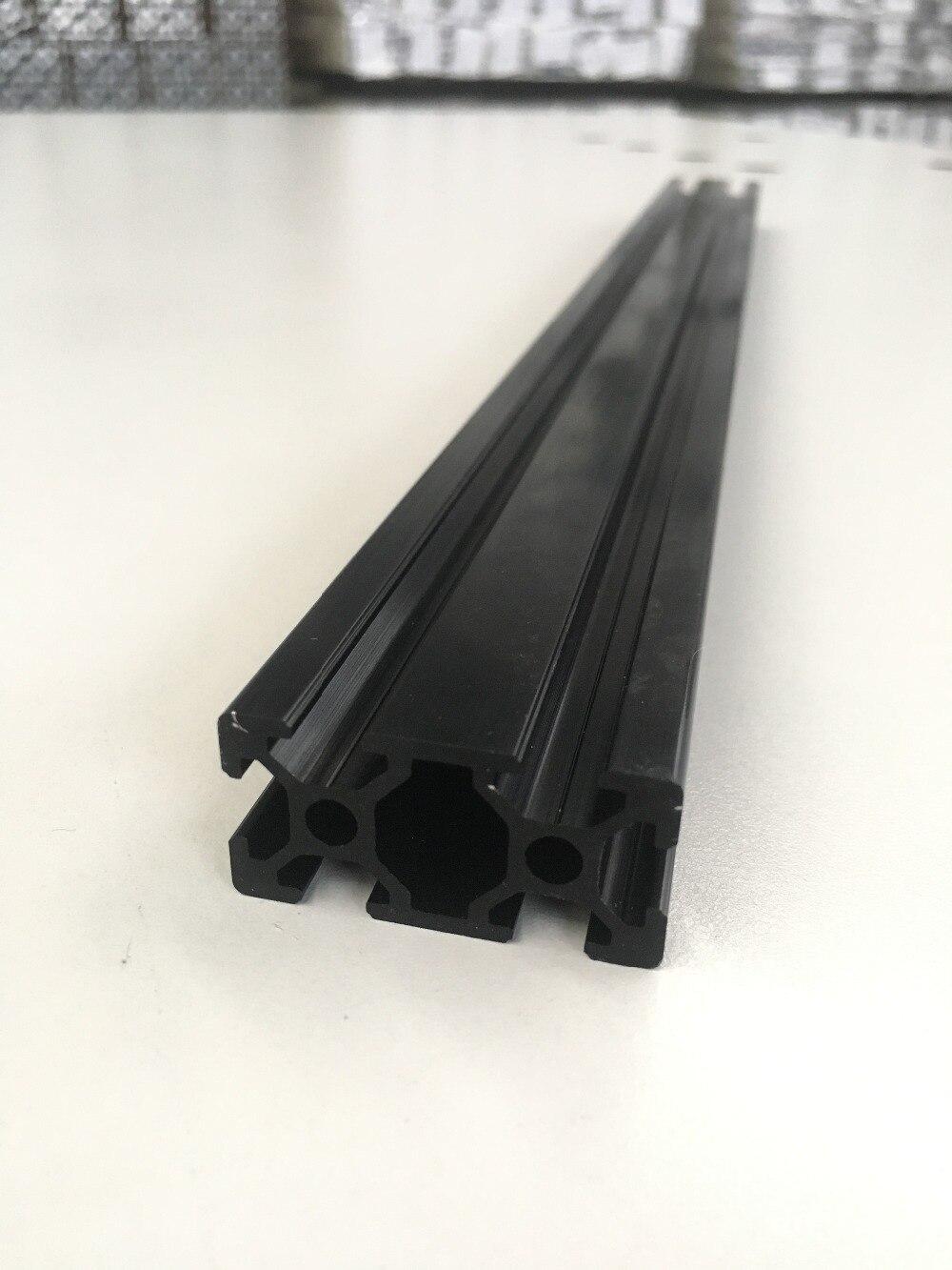 Fijn Cnc 3d Printer Onderdelen Europese Standaard Geanodiseerd Lineaire Rail Aluminium Profiel Extrusie Voor Diy 3d Printer Zwart 2040