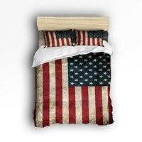 USA Flag ~ American Flag Comforters Bedlinens High Quality Fabric Duvet Cover Set Bedding Set