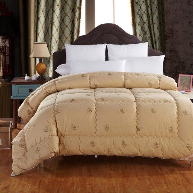 1,7 ~ 4,7 кг зима верблюжьей шерсти/шерстяное одеяло роскошные утолщаются Стёганое одеяло/одеяло king queen twin размеры быстрая бесплатная доставка
