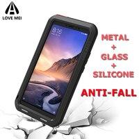 Love Mei Brand Case For Xiaomi Mi Max 2 Max 3 MiX 2 MiX 2S Mi 6 Mi 8 Mi 9 Metal Armor Shockproof Phone Case Cover Rugged Shell