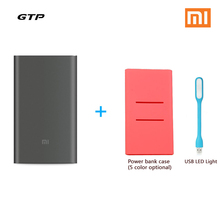 Original Xiaomi Mi Power Bank Pro 10000mAh Mi Powerbank Pro 10000 Slim USB Type-C Two-way Quick Charge with Power Bank Case