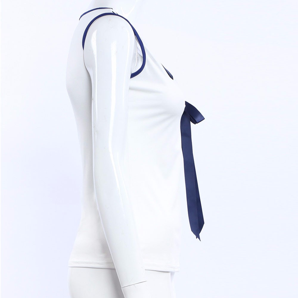 Top Hot Sale New Fashion Korean Plus Size Female Tops Women Blouses Casual Shirt Sexy White Bow Summer Blusas Ladies Clothing 7