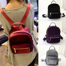 New Arrival Fashion Women Velvet Backpacks Pleuche Casual Style Girls Mochila Zipper Bags LT88 все цены