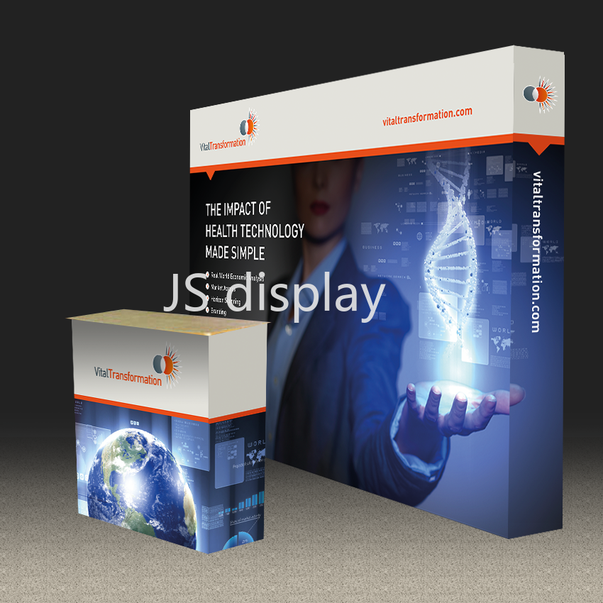 US $374 0 |10ft Straight Trade Show Display Pop Up Banner Stand Booth  Exhibition Expro Event Advertising Equipment-in Flags, Banners &  Accessories