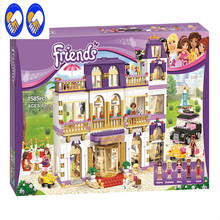 A Toy A Dream BELA 10547 Girl Series Heart Lake City Hotel Girl Friends Building Blocks