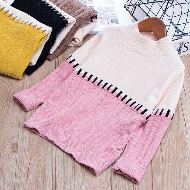 27e30813c Toddler Girl Boy Chenille Sweater Tops Kids Unisex Turtleneck ...