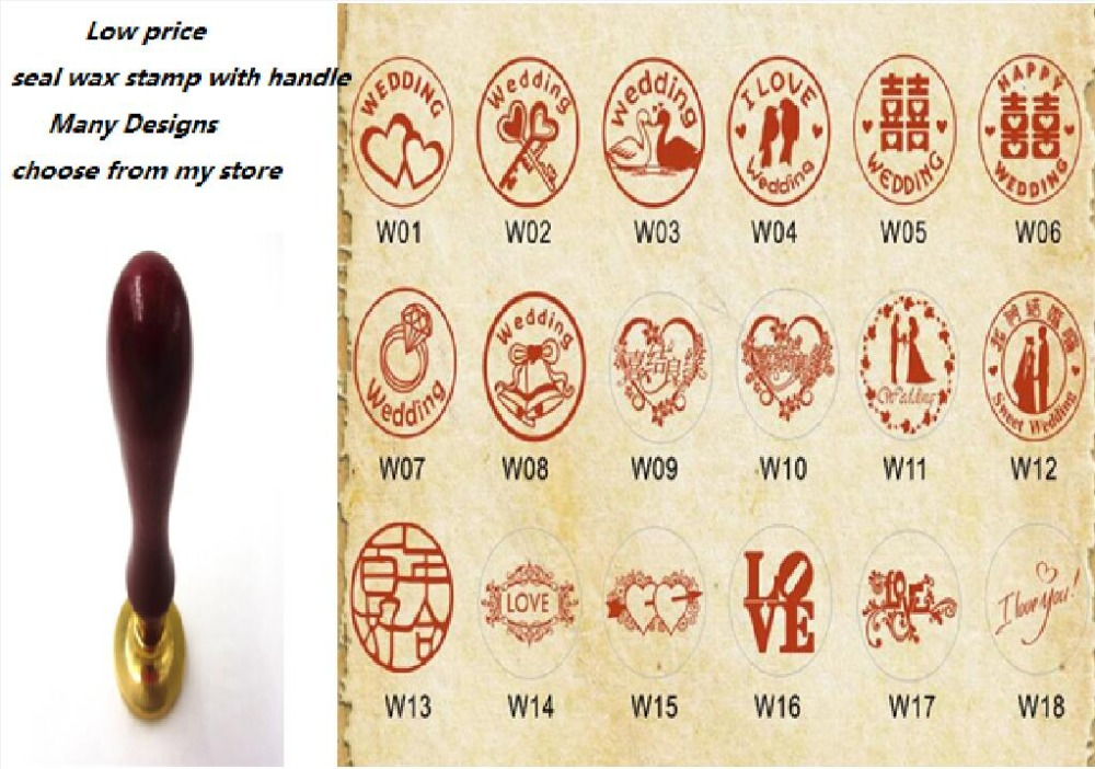 1x Wax Seal Stamp Wedding I Love You Flower Retro Wood Classic Vintage Decorative Invitation Antique Sealing Stamp 1x wax seal stamp retro wood classic sealing wax seal stamp decorative rose tree of life wedding invitation antique stamp